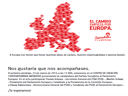 Acto presentación candidatura europea, domingo 23