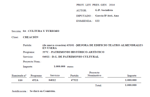 Enmienda Teatro Almendrales